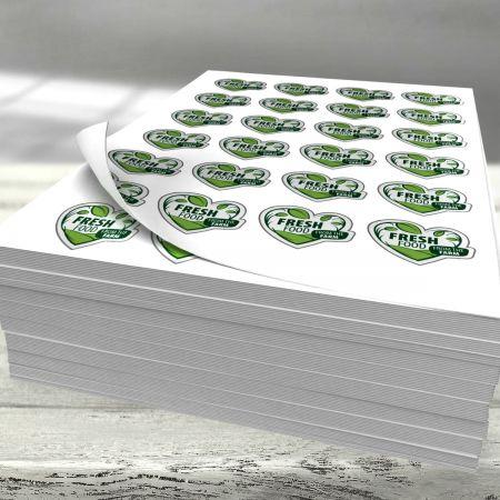 Étiquettes en feuillets A3 - 19 à 24 étiquettes par feuille - 10000pcs.