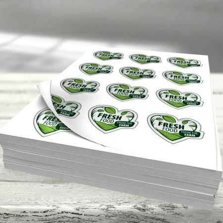 Étiquettes en feuillets A3 - 7 à 12 étiquettes par feuille - 5000pcs.