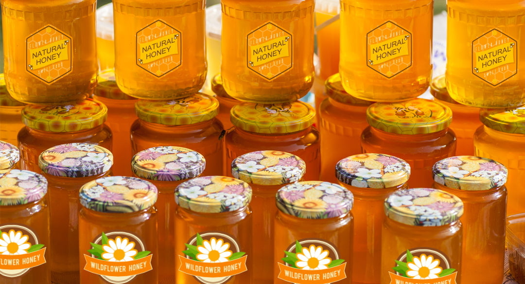 Custom honey labels – how to choose the best stickers for your product?