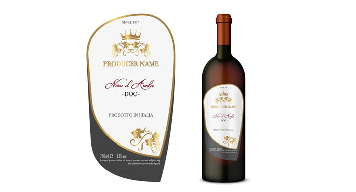 étiquettes pour bouteilles de vin